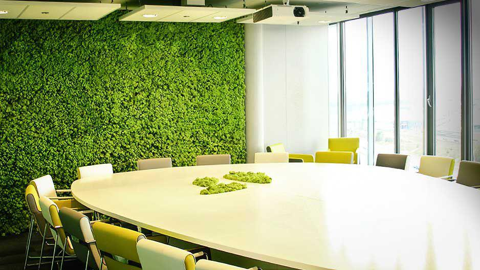 Interiores naturales uno propiedades blog - Paredes en verde ...