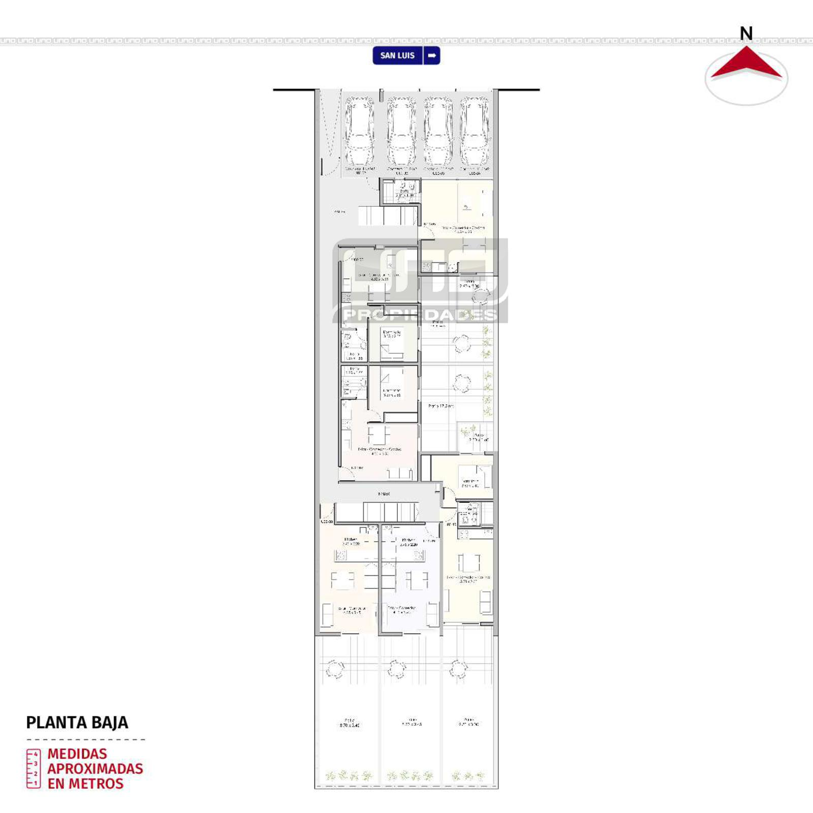 Baño Con Antebaño Plano:Venta departamento 1 dormitorio Rosario, San Luis y Francia Cód 5383