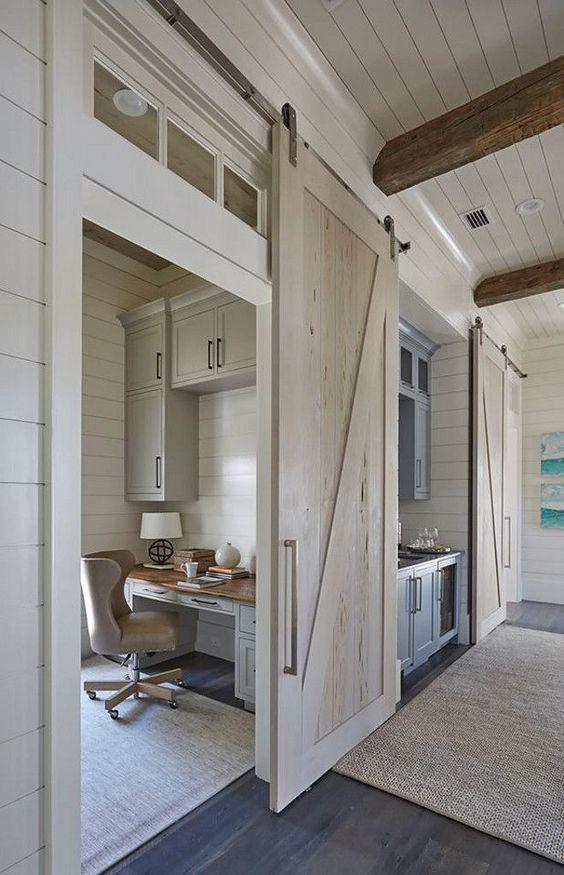 Home Ideas For Small Spaces: Puertas Corredizas Estilo Granero